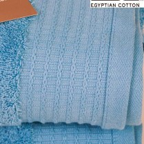 Pack of 2 Sky Blue Egyptian Cotton 650gsm Towel Large Bath Sheet