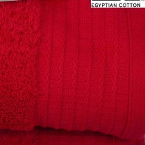 Pack of 2 Red Egyptian Cotton 650gsm Towel JUMBO Bath Sheet