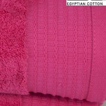 Pack of 2 Cerise Pink Egyptian Cotton 650gsm Towel JUMBO Bath Sheet