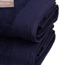 Pack of 2 Navy Blue  Egyptian Cotton 650gsm Towel JUMBO Bath Sheet