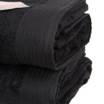 Pack of 2 Black Egyptian Cotton 650gsm Towel JUMBO Bath Sheet