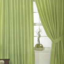 Pair of Sage Green Supersoft Blackout Thermal Curtains Ring Top / Eyelet *inc Tiebacks