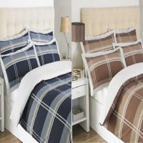 LUXURY YORK DESIGN EASY CARE POLY COTTON DUVET COVER BED SET