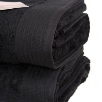 Pack of 2 Black Egyptian Cotton 650gsm Towel Large Bath Sheet