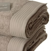 Pack of 2 Beige Egyptian Cotton 650gsm Towel Large Bath Sheet
