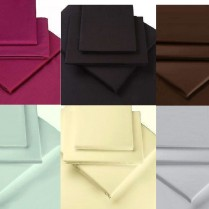 500 Thread Count 12'' ( 30cm ) Fitted Sheets  - Choice of 7 Colours