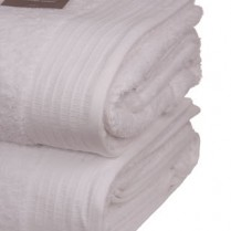 Pack of 2 White Egyptian Cotton 650gsm Towel Large Bath Sheet