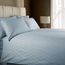 100% Cotton 400 Thread Count Wave Jacquard Duvet Cover Set