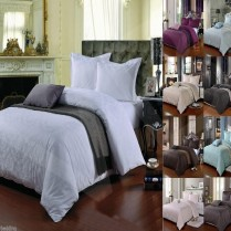 500 Thread Count Damask Jacquard Duvet Cover Set