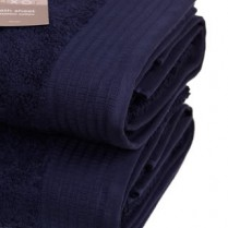 Pack of 2 Navy Blue Egyptian Cotton 650gsm Towel Large Bath Sheet