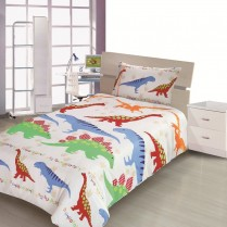 Children's Kids DINOSAUR DESIGN DUVET COVER AND PILLOWCASE SET By Viceroybedding