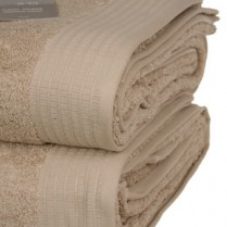 Pack of 2 Latte Egyptian Cotton 650gsm Towel Large Bath Sheet