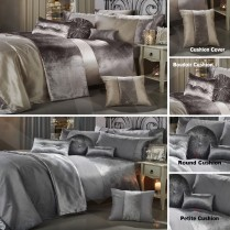 GRAN RENO CRUSHED VELVET Luxury Duvet Quilt Cover Bedding Set