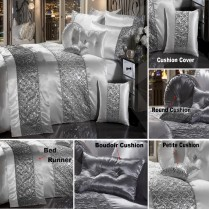 SPARKLE SEQUIN Luxury Diamante Duvet Quilt Cover Bedding Set
