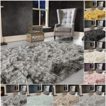 Modern Large SHAGGY Floor RUG Soft SPARKLE Shimmer Extra Thick 9cm Pile