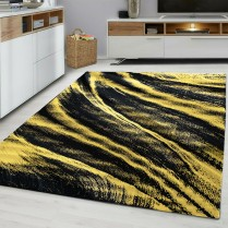 FUSION 6635 OCHRE YELLOW GREY MUSTARD GOLD RUG LARGE LIVING ROOM
