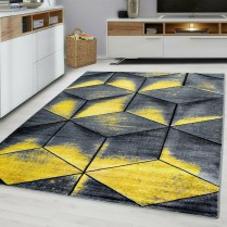CUBIC 9290 OCHRE YELLOW GREY MUSTARD GOLD RUG LARGE LIVING ROOM