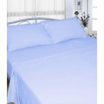 Sky Blue Flannelette Sheet Set