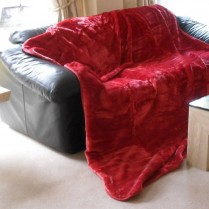 Chili Pepper Red Mink Throw