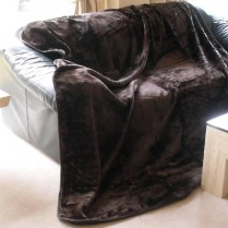 Chocolate Brown Mink Throw