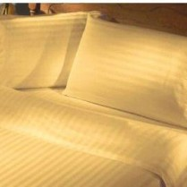 Gold Stripe 240 Thread Count Egyptian Cotton Duvet Cover Set