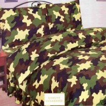 Children's Camouflage Army Duvet Cover Set Khaki