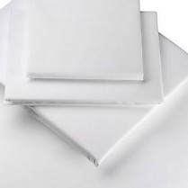 Percale Pair of House Wife Pillowcases in WHITE