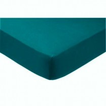 Percale Box Pleated Fitted Valance Sheets in TEAL