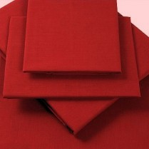 Percale Box Pleated Fitted Valance Sheets in BERRY/ BURGUNDY