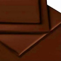 Percale Box Pleated Fitted Valance Sheets in CHOCOLATE BROWN