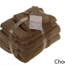 Chocolate Brown 6 Piece 650gsm Egyptian Cotton Towel Bale