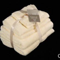 Cream 6 Piece 650gsm Egyptian Cotton Towel Bale