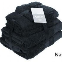 Navy Blue 6 Piece 650gsm Egyptian Cotton Towel Bale