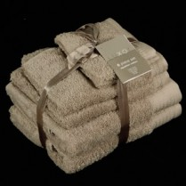 Latte 6 Piece 650gsm Egyptian Cotton Towel Bale
