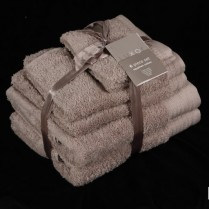 Beige 6 Piece 650gsm Egyptian Cotton Towel Bale