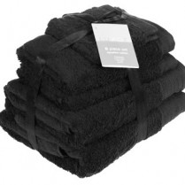 Black 6 Piece 650gsm Egyptian Cotton Towel Bale