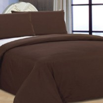 Reversible Chocolate Brown/ Cream Duvet Cover Set