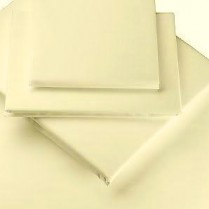Percale Box Pleated Base Platform Valance Sheets in IVORY/ CREAM