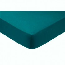 Percale Box Pleated Base Platform Valance Sheets in TEAL