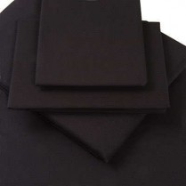 Percale Box Pleated Base Platform Valance Sheets in BLACK