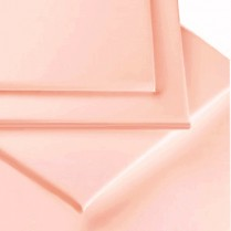 Percale Box Pleated Base Platform Valance Sheets in PINK