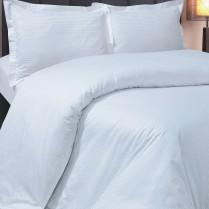 800 Thread Count White Boutique Stripe Flat Sheets