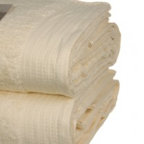 Pack of 2 Cream Egyptian Cotton 650gsm Towel JUMBO Bath Sheet