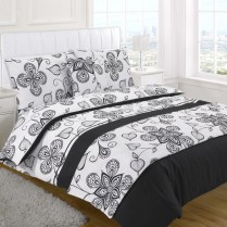 5pc Sedona Black Design Bed in a Bag Bedding DUVET QUILT COVER SET + CUSHION COVER + BED RUNNER