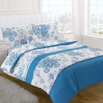 5pc Sedona Teal Design Bed in a Bag Bedding DUVET QUILT COVER SET + CUSHION COVER + BED RUNNER