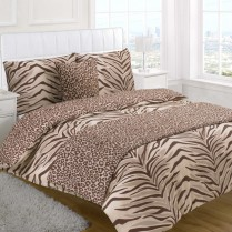 5pc Tiger Animal Print Design Bed in a Bag Bedding DUVET QUILT COVER SET + CUSHION COVER + BED RUNNER