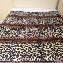 Leopard Print Large Mink Throw