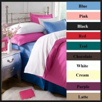 FLANNELETTE 100% Cotton Super Soft Flat Sheet Blue