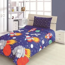 Children's Kids ROCKET DESIGN DUVET COVER AND PILLOWCASE SET By Viceroybedding