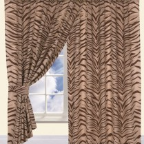 Children's Kids Pair of TIGER DESIGN CURTAINS With Matching Tie Backs By Viceroybedding
